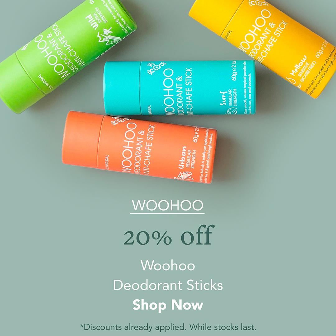 20% Off Woohoo Deodorants