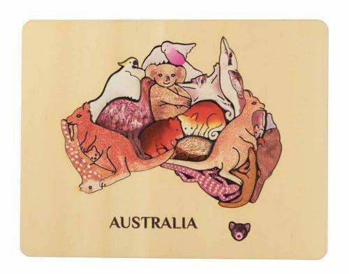 Animal Magic Wooden Puzzle - Australia