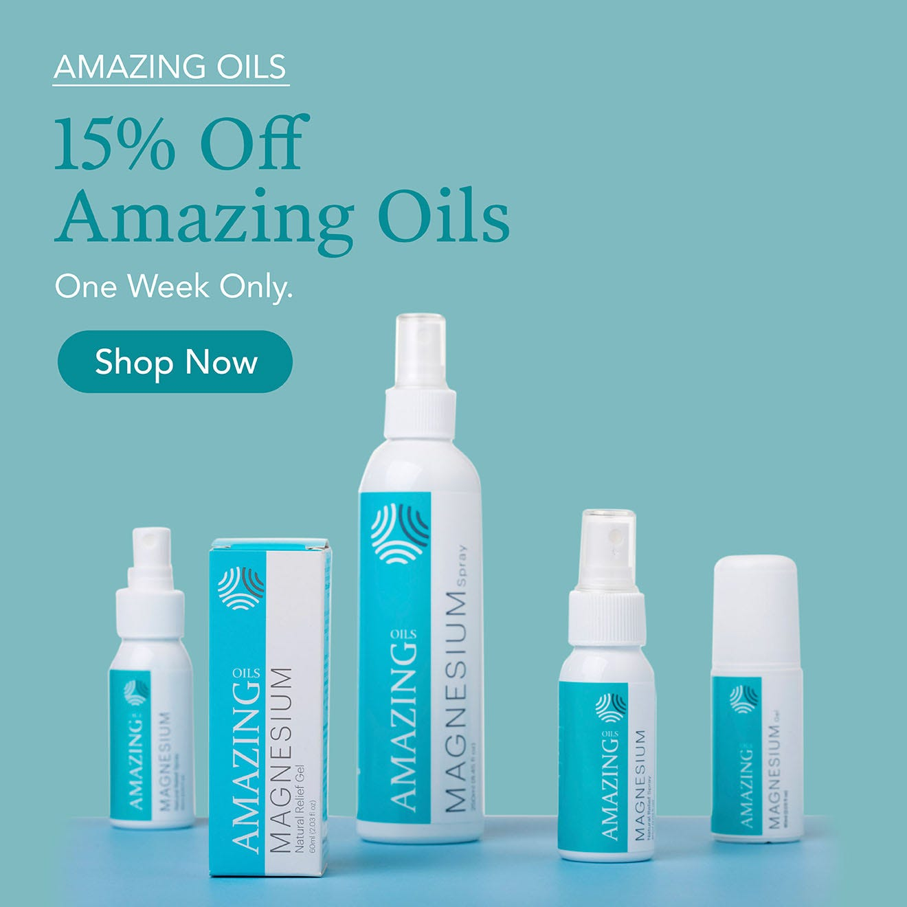 15% off Amazing Oils this week