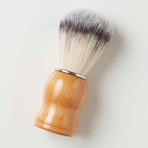 Green + Kind Vegan Shaving Brush Wood