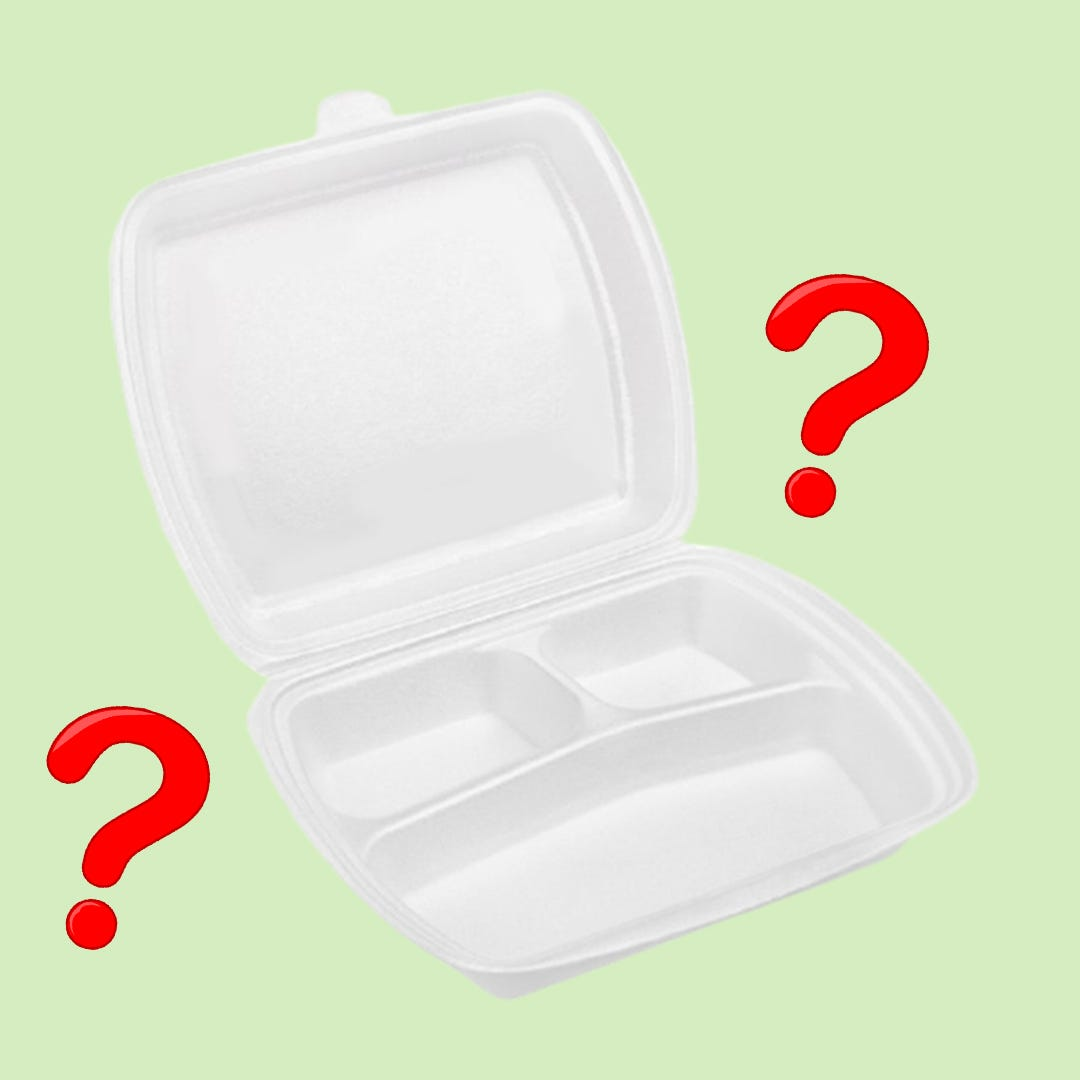 When will polystyrene containers be banned?