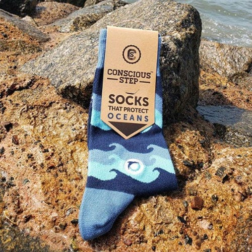 Conscious Step Men's Socks - Ocean Protection