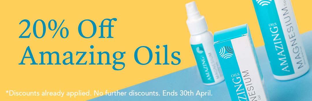 20% Off Amazing Oils