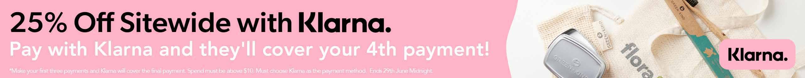 Save 25% with Klarna