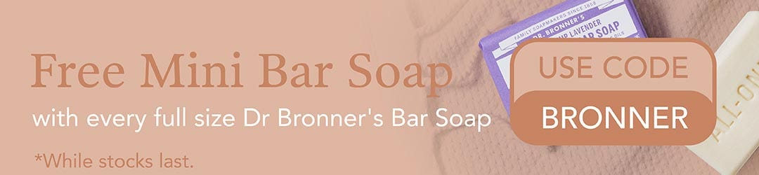 Free Mini Soap from Dr Bronner's
