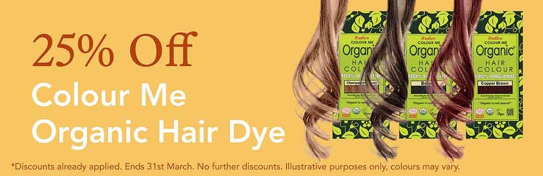 25% Off Colour Me Organic