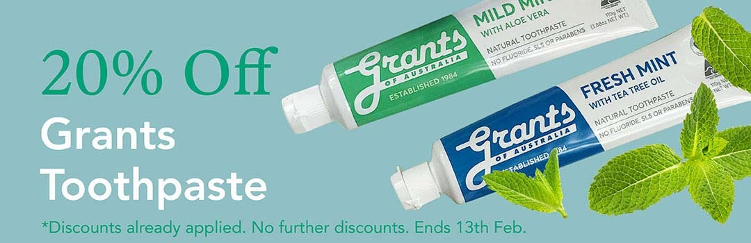 20%  Off Grants Natural Toothpaste