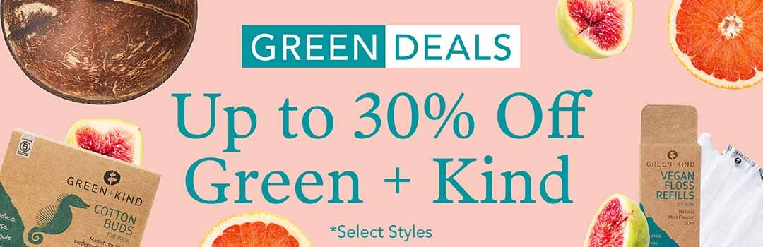 30% Off Green + Kind