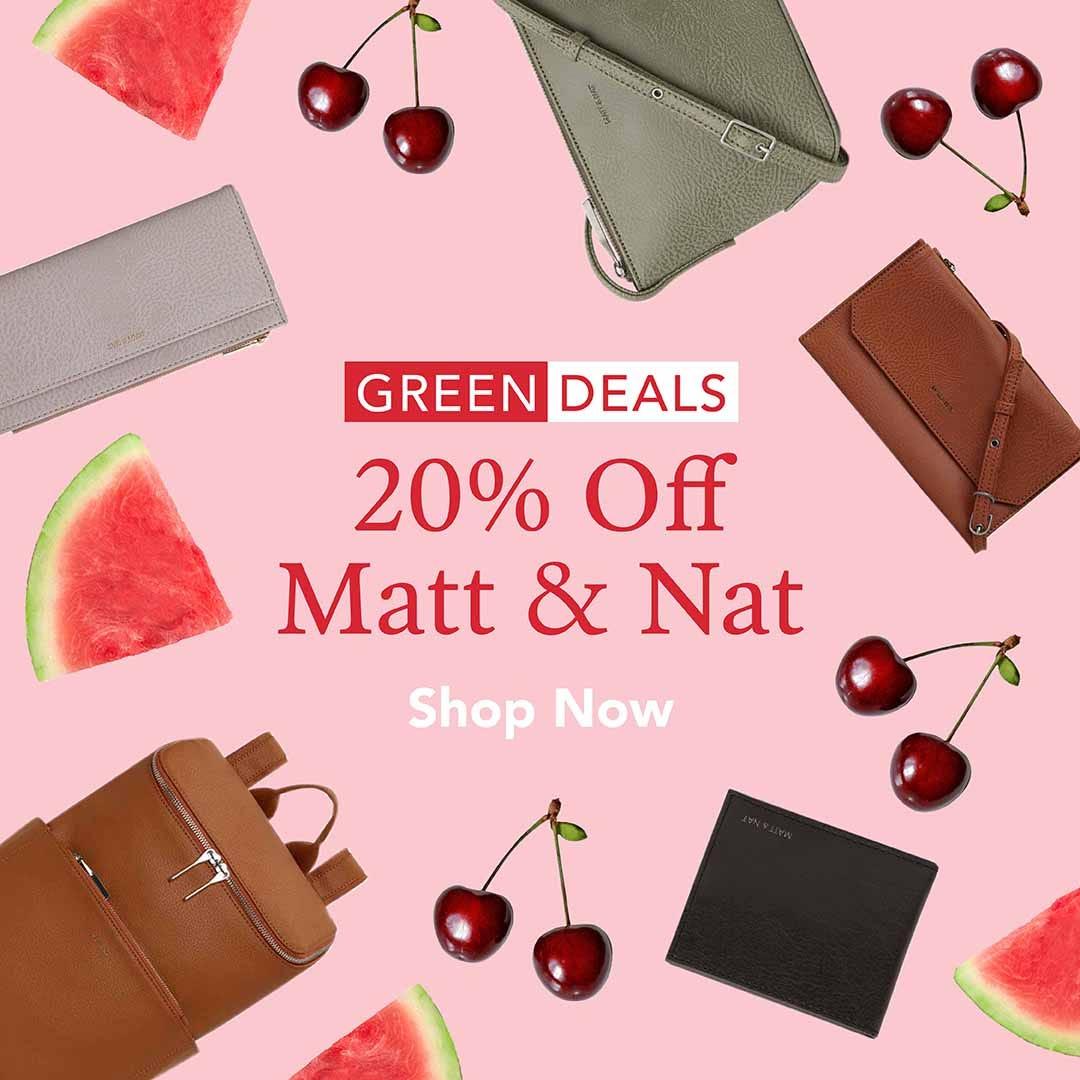 20% off Matt & Nat