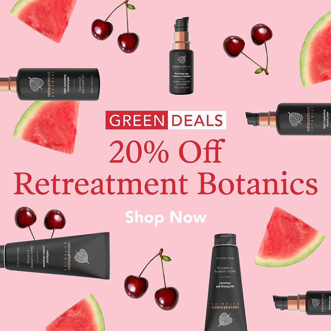 20% Off Retreatment Botanics