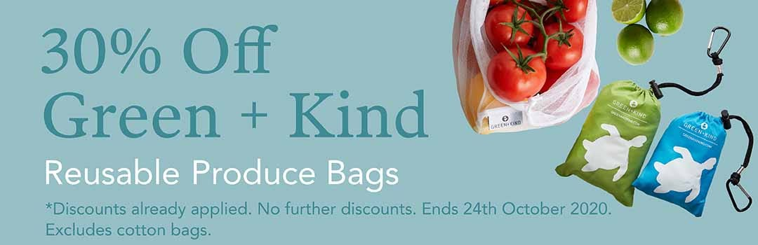 30% Off Green + Kind Produce Bags