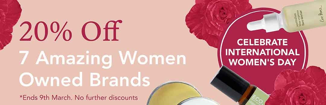 20% Off Women Owned Brands