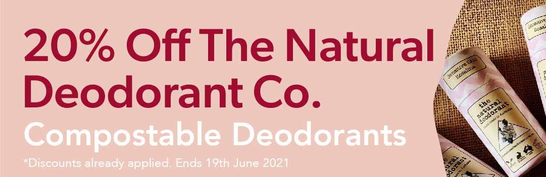 20% Off The Natural Deodorant Co