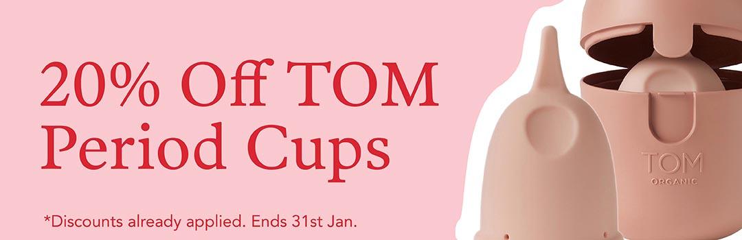 20% Off TOM Menstrual Cups
